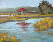 South Carolina Low Country Marsh Paintings - Edisto Study 7 by Todd Baxter