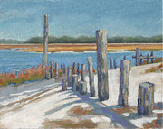 South Carolina Low Country Marsh Paintings - Edisto Study 9 by Todd Baxter
