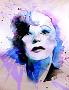 Photo  Paintings - Edith Piaf by Steven Ponsford