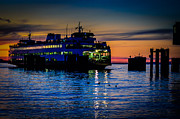Sunset Prints Posters - Edmonds Washington State Ferry Terminal Poster by Puget  Exposure