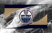Puck Framed Prints - Edmondton Oilers Framed Print by Joe Hamilton