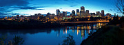 Edmonton Framed Prints - Edmonton Skyline Panorama 8 Framed Print by Terry Elniski