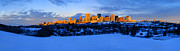 Edmonton Framed Prints - Edmonton Winter Skyline Panorama 1 Framed Print by Terry Elniski