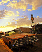 Back Road Digital Art Prints - Edsel and the Canyon Lodge Print by Ron Regalado