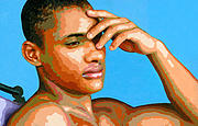 Male Painting Originals - Eduardo na Luz by Douglas Simonson