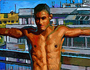 Male Art - Eduardo on the 12th Floor by Douglas Simonson
