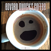 Edvard Munch Posters - Edvard Munchs Coffee Poster by Tim Nyberg