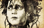 Johnny Depp Art - Edward Scissorhands by Filippo B