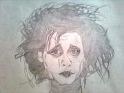 Portaits Drawings - Edward Scissorhands by Manasa Patapatnam