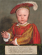 Younger Framed Prints - Edward VI as a Child Framed Print by Hans Holbein the Younger