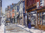 Old Street Paintings - Edwardian St.Ebbes Oxford by Mike Lester
