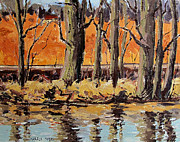 Water Reflections Originals - Eel River Tow Path by Charlie Spear