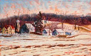 Snow Pastels Originals - Eel River Winter by Tim  Swagerle