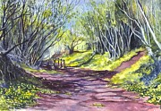 Carol Wisniewski - Pathways Watercolor