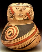 Wa Paintings - Effigy Jar by Ramos Polychrome