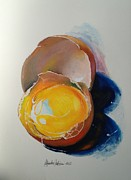 Painted Food Prints - Egg.. Print by Alessandra Andrisani