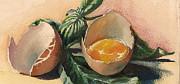 Egg And Basil Print by Alessandra Andrisani