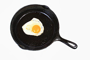 Sunny Side Up Egg Framed Prints - Egg in the Frying Pan Framed Print by James Bo Insogna