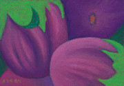 Organic Pastels Originals - Eggplants by Anne Katzeff