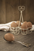 Wooden Spoons Posters - Eggs Poster by Christopher and Amanda Elwell