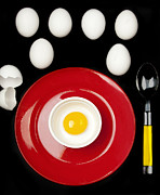 Sunny Side Up Egg Prints - Eggsactly Put Print by Mary Martin
