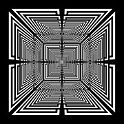 Op Art Digital Art Originals - Egression Inverted by Royal Gervais