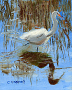 Pallet Knife Originals - Egret by Christine Crowell