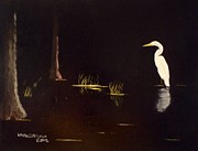William McCutcheon - Egret in Cypress Swamp