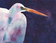 Egret Paintings - Egret by Mickey Krause