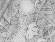 People Drawings - Egypt by Dan Twyman