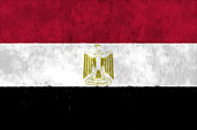 Egypt Digital Art - Egypt Flag by World Art Prints And Designs