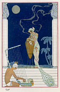 Social Paintings - Egypt by Georges Barbier