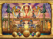Pharaoh Metal Prints - Egyptian Metal Print by Ciro Marchetti