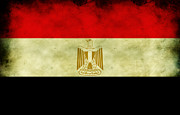Grime Digital Art Posters - Egyptian flag  Poster by Mohamed Elkhamisy