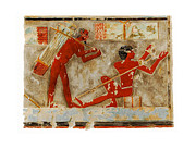 Egypt Reliefs Framed Prints - Egyptian Heiroglyph Framed Print by Unknown