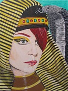 Postcard Painting Originals - Egyptian Princess by Jeepee Aero