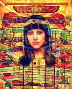Old Mixed Media - Egyptian Queen by Mo T