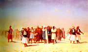 High Society Posters - Egyptian Recruits Crossing The Desert Poster by MotionAge Art and Design - Ahmet Asar
