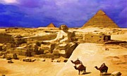 Camel Digital Art Originals - Egyptian Sky by Acesio Amavi