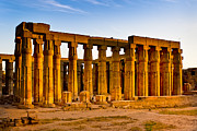 Ancient Ruins Posters - Egyptian Temple Ruins in Luxor Poster by Mark E Tisdale
