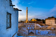 Mosque Posters - Egyptian Village Minaret at Dusk Poster by Mark E Tisdale