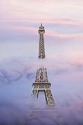 Eifell Tower By Fog Print by Martin Dzurjanik