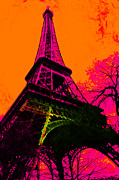 Europe Digital Art Metal Prints - Eiffel 20130115v1 Metal Print by Wingsdomain Art and Photography