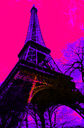 Paris Digital Art Posters - Eiffel 20130115v3 Poster by Wingsdomain Art and Photography