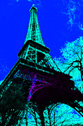 Paris Digital Art Posters - Eiffel 20130115v4 Poster by Wingsdomain Art and Photography
