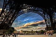 Chuck Kuhn Prints - Eiffel Deluxe Print by Chuck Kuhn