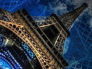 Looming Digital Art Posters - Eiffel Deux Poster by Randy Turnbow