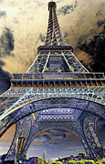 Chuck Kuhn Prints - Eiffel Explode I Print by Chuck Kuhn