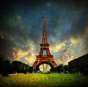 Backlit Framed Prints - Eiffel Framed Print by Taylan Soyturk