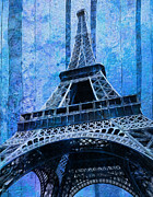 Europe Digital Art Metal Prints - Eiffel Tower 2 Metal Print by Jack Zulli